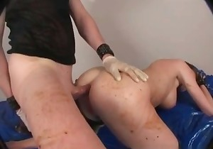 Dirty scat action in doggy style