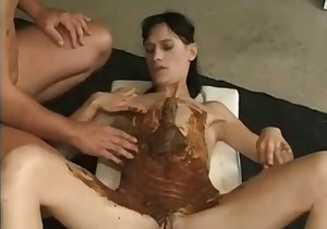 Mature covered in shit