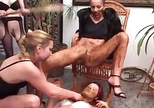 Dominatrix adores fresh turd