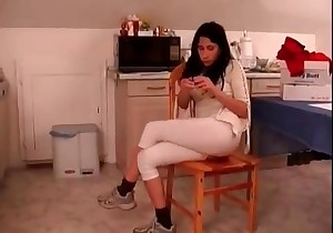 Shitty ass in white pants